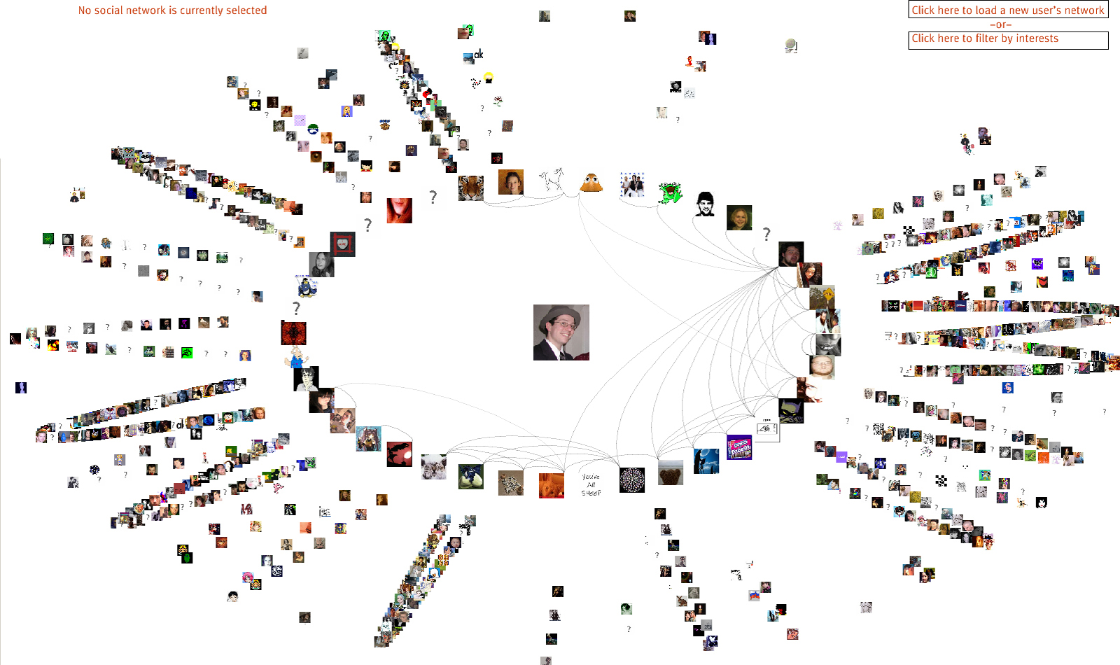 LJNet - LiveJournal Social Network Visualization